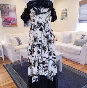 Free People Hibiscus Print Maxi Dress